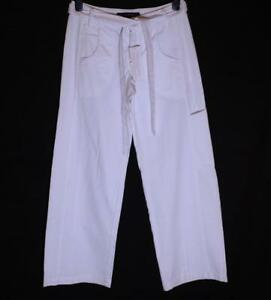 New-Authentic-Women-039-s-French-Connection-Trousers-Belt-RRP-55-L32-034-White-Fcuk
