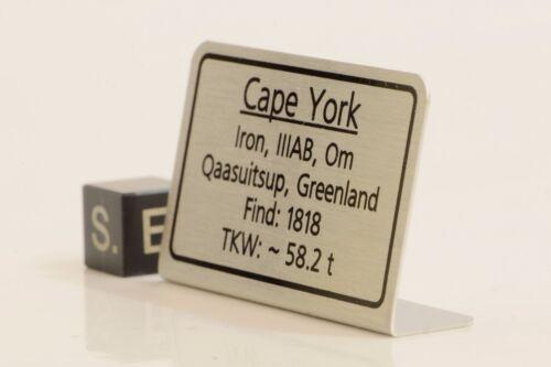 Meteorite label Cape York