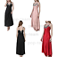 Womens-Ladies-Sexy-Lace-Long-Silk-nightgowns-Stain-Chemise-Sleepwear-Lingerie miniature 11