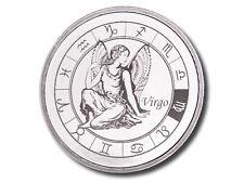 Zodiac Horoscope | Virgo | 1 oz .999 Silver BU Round USA Made Bullion Coin