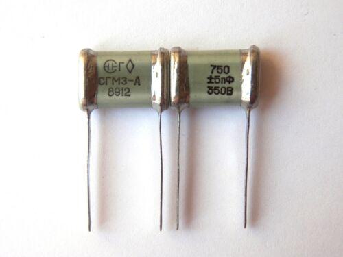 750pF 350V 0.7/% ex-USSR Silver Mica SGM Capacitor Hi-End 12 pcs