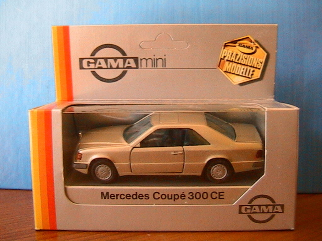 MERCEDES BENZ 300 CE COUPE  BRONZE METAL GAMA 1168 1 43 MADE IN WEST GERMANY