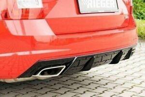Skoda-Octavia-vRS-2-0-TFSi-RIEGER-Rear-Bumper-Insert-Diffuser-Gloss-Black
