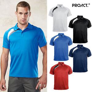 Kariban-Proact-Mens-Short-Sleeve-Polo-Shirt-PA457-Sports-Wear-Training-T-Shirt