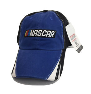 New W Tags CFS Nascar Logo Blue White Black Baseball Dad Hat Cap Strap Racing