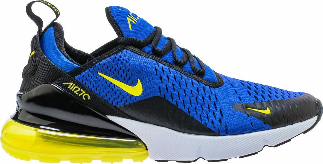{BV2517-400} MEN'S NIKE AIR MAX 270 RUNNING SHOES blueE YELLOW NEW