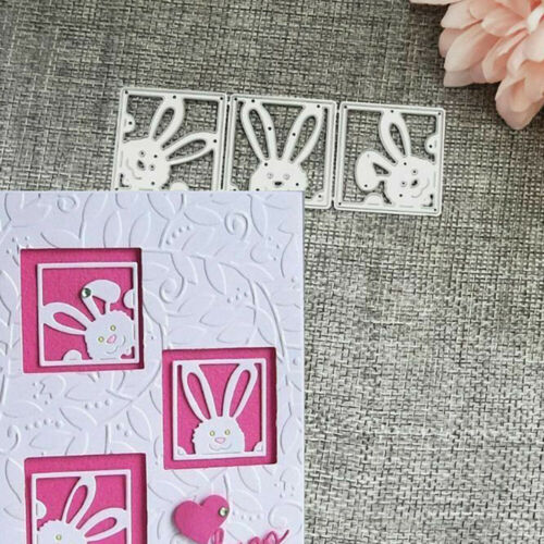 Metal Cutting Dies Cut Die Mold Rabbit Cute Frame Scrapbook Stencil DIY Craft