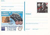 BRD FDC Ganzsache Karte 1998 Briefmarkenmesse Essen Mi. PSo 52