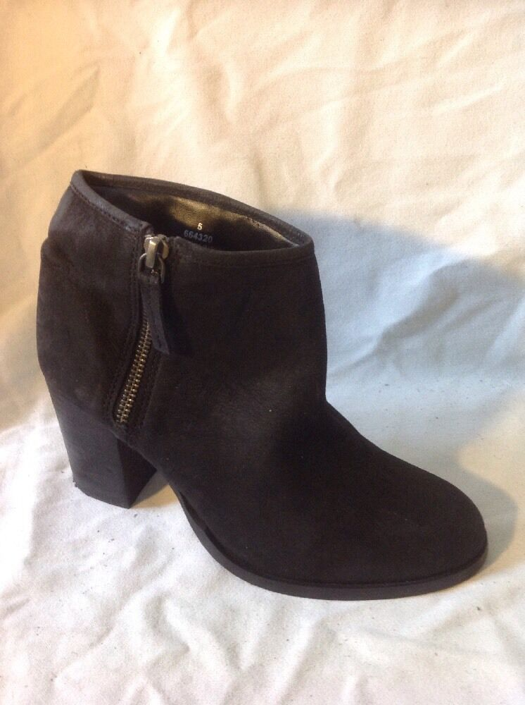 Asos Black Ankle Leather Boots Size 5