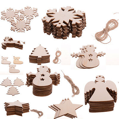 50pcs Girl Wooden Chips Scrapbooking Embellishments Party Home Decor 23x10mm