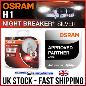 Twin OSRAM Silverstar 2.0 H1 Car Headlight Bulb 64150SV2-HCB