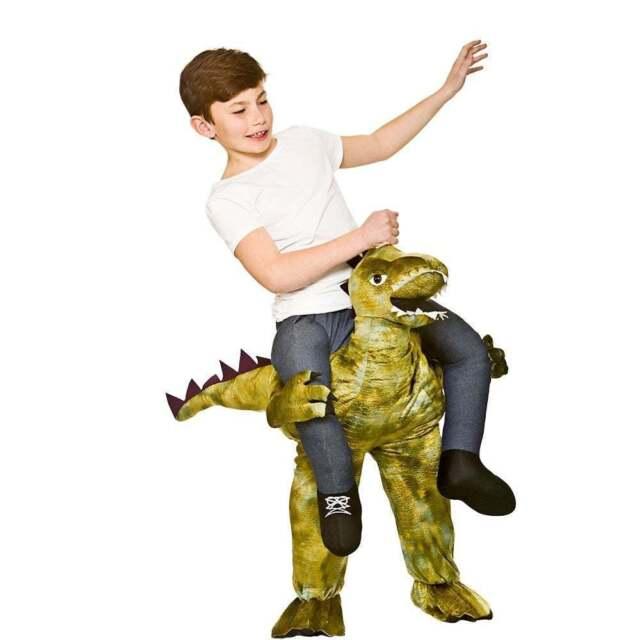 Boys Girls Tyrannosaurus Rex Dinosaur T-Rex Book Day Fancy Dress Costume Outfit