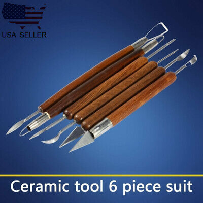 6PCS Wax Carver Clay Sculpting Tool Pottery Making Stainless Steel Tool  T
