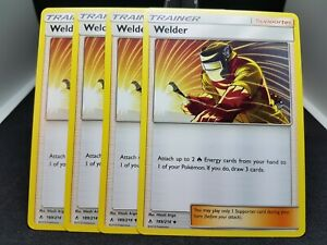 Pokemon X4 Welder Non Holo 189//214*** Playset ** Free Shipping **