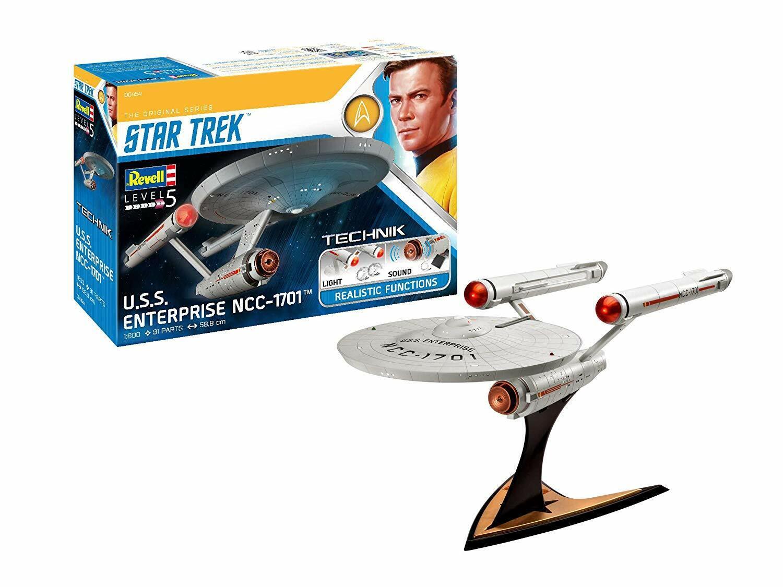 USS Enterprise NCC-1701 (Star Trek) 1 600 Scale Level 5 Revell Technik Model Kit