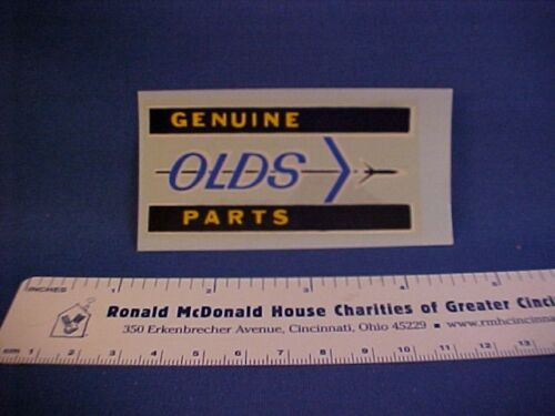 """/""""Genuine OLDS Parts/"""" Oldsmobile car show detailing decal from old stock--nice"""