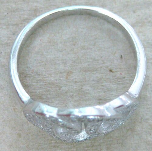 100/% REAL 925 Sterling Silver Overlapping Circles Cz Women Girl Ring Sz L N P R