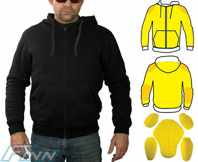 RKSports Motorcycle Motorbike Kevlar Lined Blue Hoodie and Protective Jeans