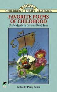 Favorite-Poems-of-Childhood-Dover-Children-039-s-Thrift-Classics-New-Books