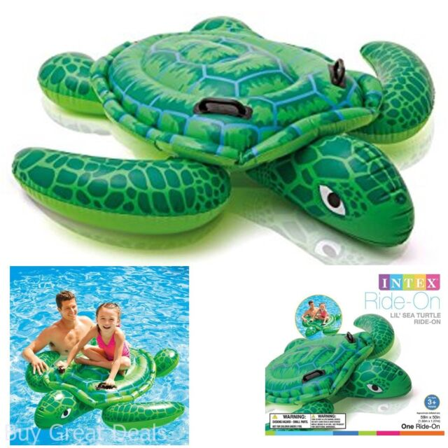 Intex Pool Float Lil/' Sea Turtle Ride-on 59 X 50 Lake Toy Swimming Inflatable for sale online