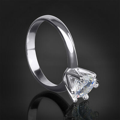 Womens 2.0 Carat Round Cut Wedding Engagement Anniversary Ring Silver Size 5-10 Delicacies Loved By All Jewelry & Watches