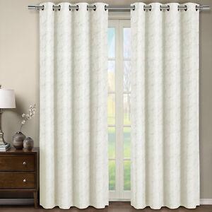 Grommet curtains pattern grommet curtain single - Tabitha Off White Grommet Jacquard Window Curtain Panel 54