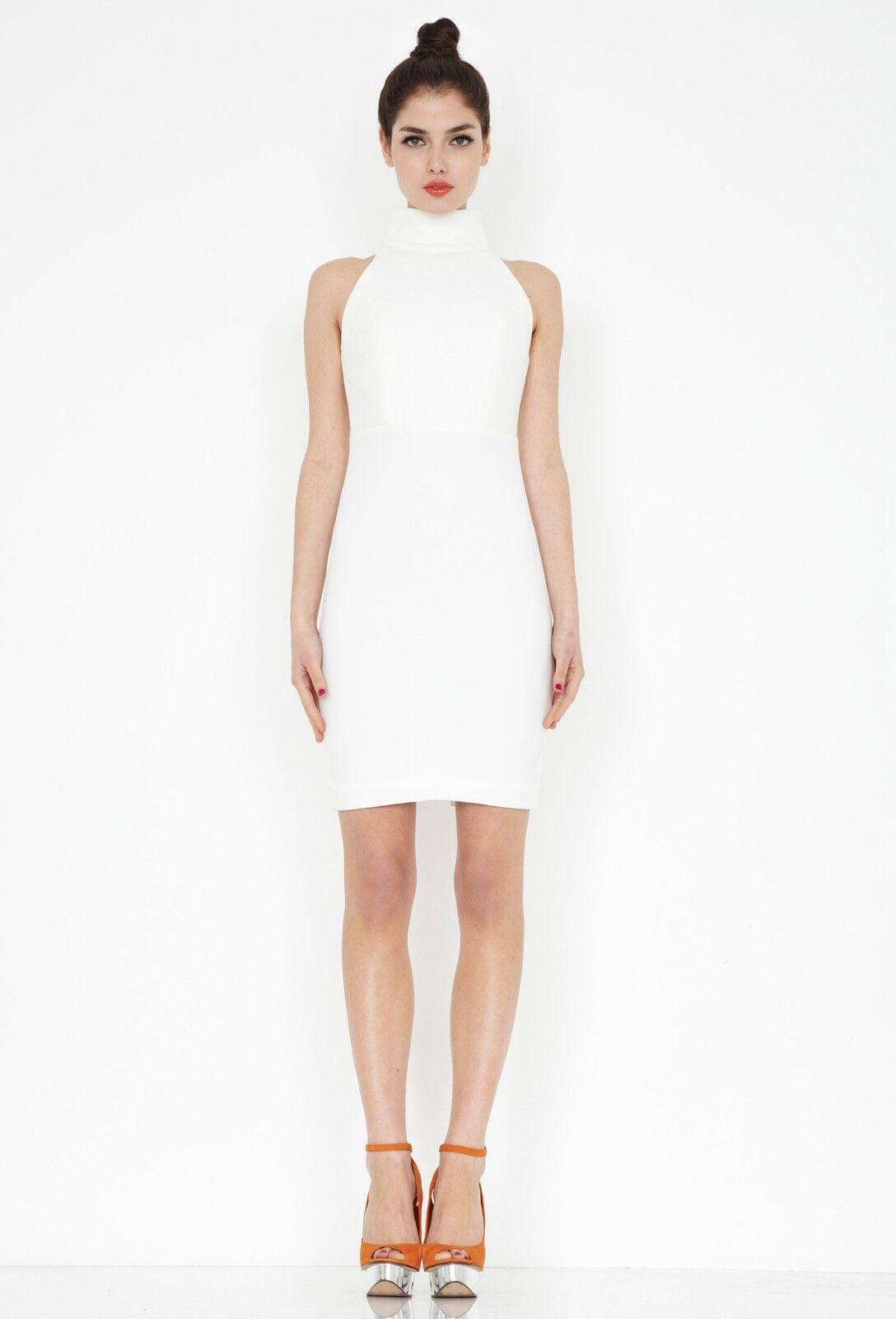 AQ AQ Secil Midi Dress Cream UK Größe 8 SK092 CC 03