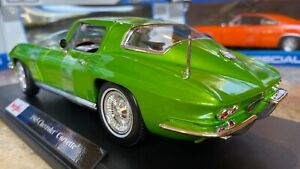 Officially-Licensed-1965-Chevrolet-Corvette-Maisto-1-18-Scale-Diecast-Model-Car