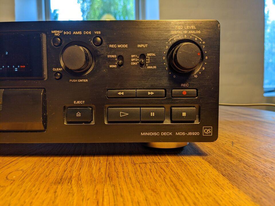 Minidisc afspiller, Sony, Mds jb920 Qs