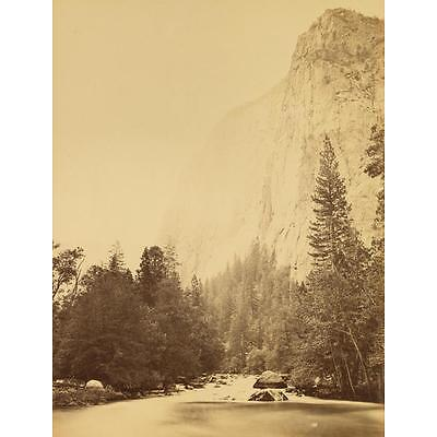 9. CARLETON E. WATKINS (1829-1916) Outline of Cathedral Rock at the River ... Lot 9
