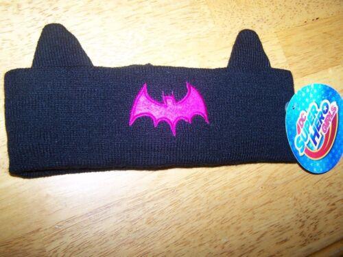 New Batman Headband w// Ears Snowband DC Superhero Super Hero Girls Black Purple