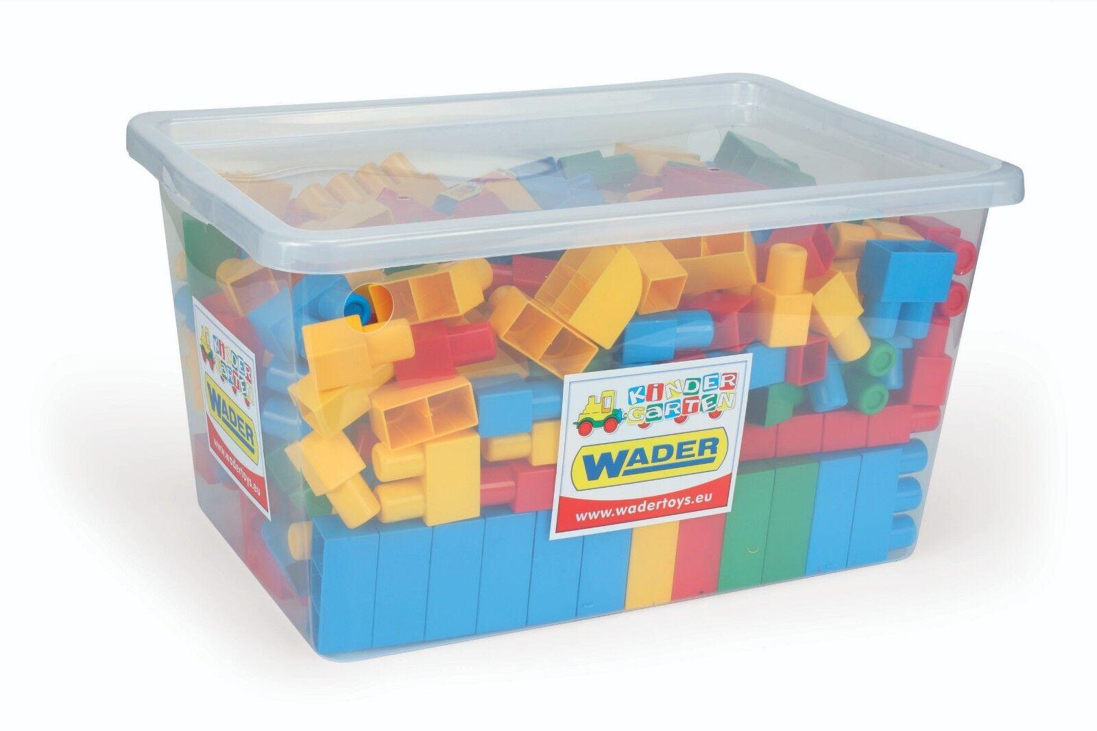 Bauklötze Bausteine 240 Stück in praktischer Aufbewahrungsbox Aufbewahrungsbox Aufbewahrungsbox Wader fbb1b0