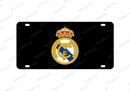 Real Madrid Car License Plate Soccer Blancos Bandera La Liga Bernabeu Acrylic