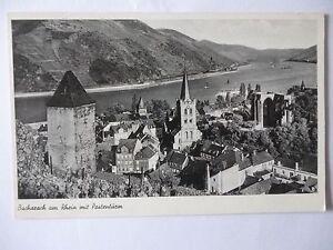 Ansichtskarte Bacharach am Rhein mit Postenturm 1957 - Eggenstein-Leopoldshafen, Deutschland - Ansichtskarte Bacharach am Rhein mit Postenturm 1957 - Eggenstein-Leopoldshafen, Deutschland