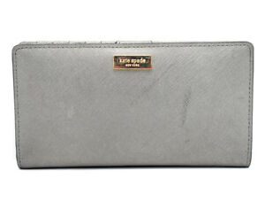 Kate-Spade-New-York-Damen-Leder-Geldboerse-Portemonnaie-Silber