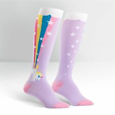 SOCK It To Me Donna Funky al Ginocchio Calzini-Rainbow Blast