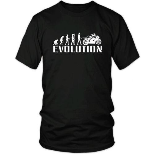 EVOLUTION MOTORCYCLE t-shirt race motogp yamaha honda suzuki xmas birthday gift