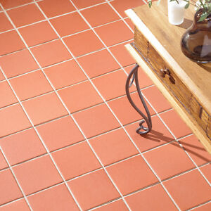15x15 Sima Red Quarry Wall And Floor Tiles 1 Sqm 44 Tiles Ebay