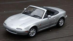 Gate-1-18-Mazda-MX5-Miata-de-Plata-1990-Convertible-Cabrio-Coleccion-Coche-de-juguete
