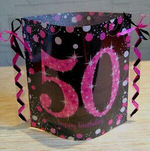 Tischdeko Windlicht Aus Servietten Happy Birthday 40 Geburtstag