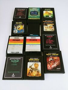 Lot of 12 Atari 2600 Games Includes Atlantis and Yar's Revenge Tested