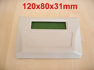 10 Pcs MDT-65 ABS Plastic Box Sloped Desktop Enclosure (2X16 LCD Compartment)