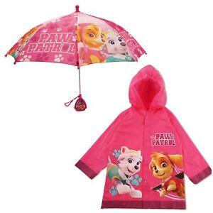 Nickelodeon-Paw-Patrol-impermeables-y-paraguas-Rainwear-Set-las-ninas-pequenas-edad-2-7