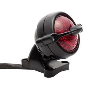 led motorrad r cklicht schwarz bremslicht kzb im round. Black Bedroom Furniture Sets. Home Design Ideas