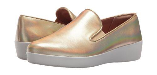 Superskate 8 Bnib en Cuir Chaussure Fitflop compensée doré compensée cuir A7wWBH75qx