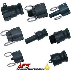 Cam-amp-Groove-Coupling-Camlock-Quick-Connect-Water-Fitting-Polypropylene-Plastic