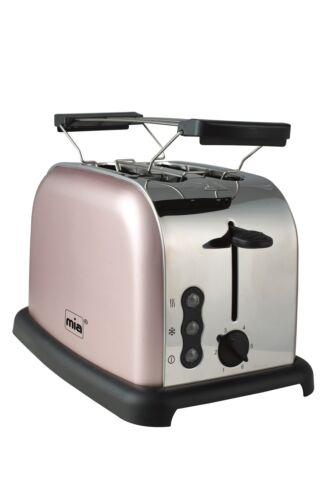 Retro Edelstahl Toaster Doppelschlitz Toastautomat TA 4712RG American Toast