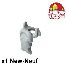 Lego - 1x Minifig barbe longue moustache beard gris/light bluish gray 6132 NEUF
