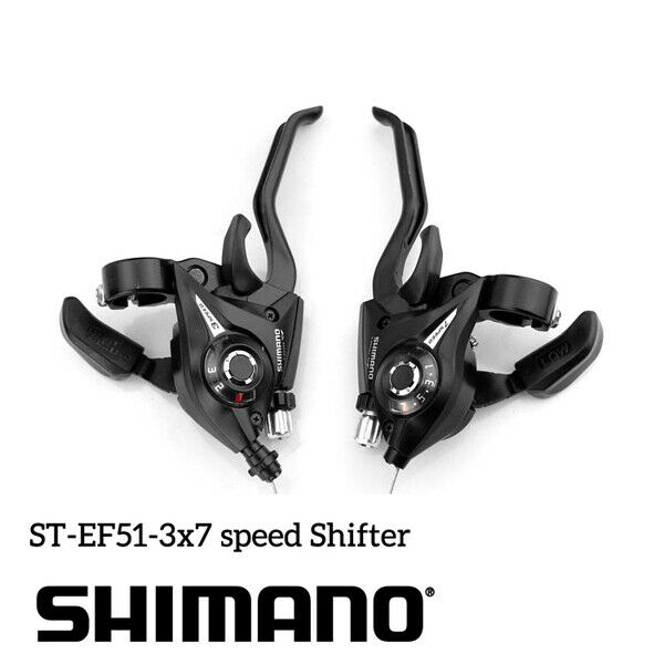 Brake Levers Combo Kit Bike US 1 Pair 21 Speed St-ef51 3 X 7 for Shifters