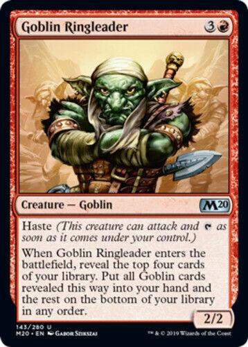 1x Goblin Ringleader English Core Set 2020 MTG Magic Foil NM-Mint